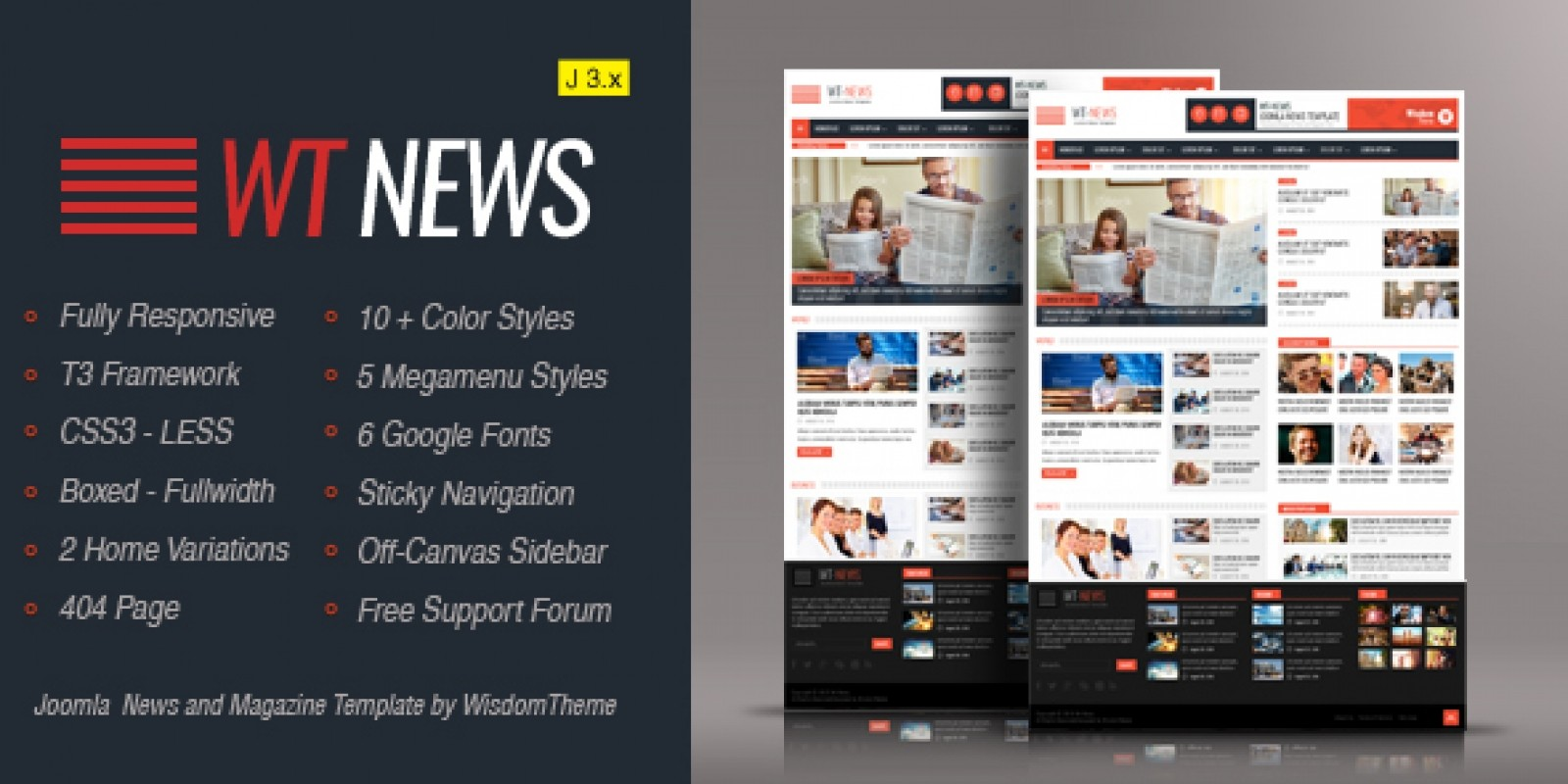 WT News Joomla News And Magazine Template Joomla Miscellaneous - Online magazine template