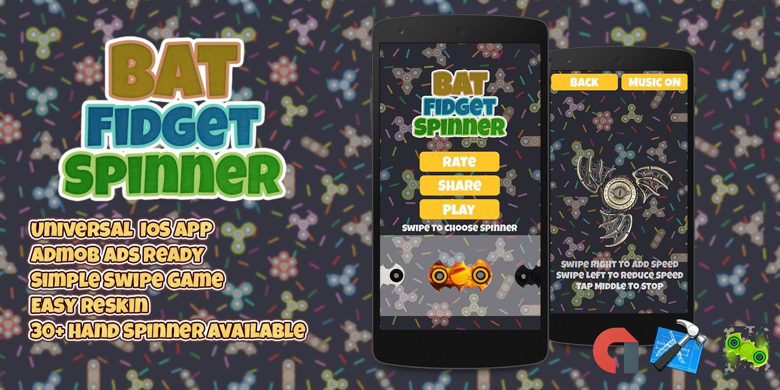 Bat Fidget Spinner - iOS Xcode Project