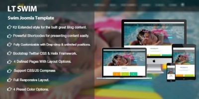 LT Swim – Swimming School Joomla  template