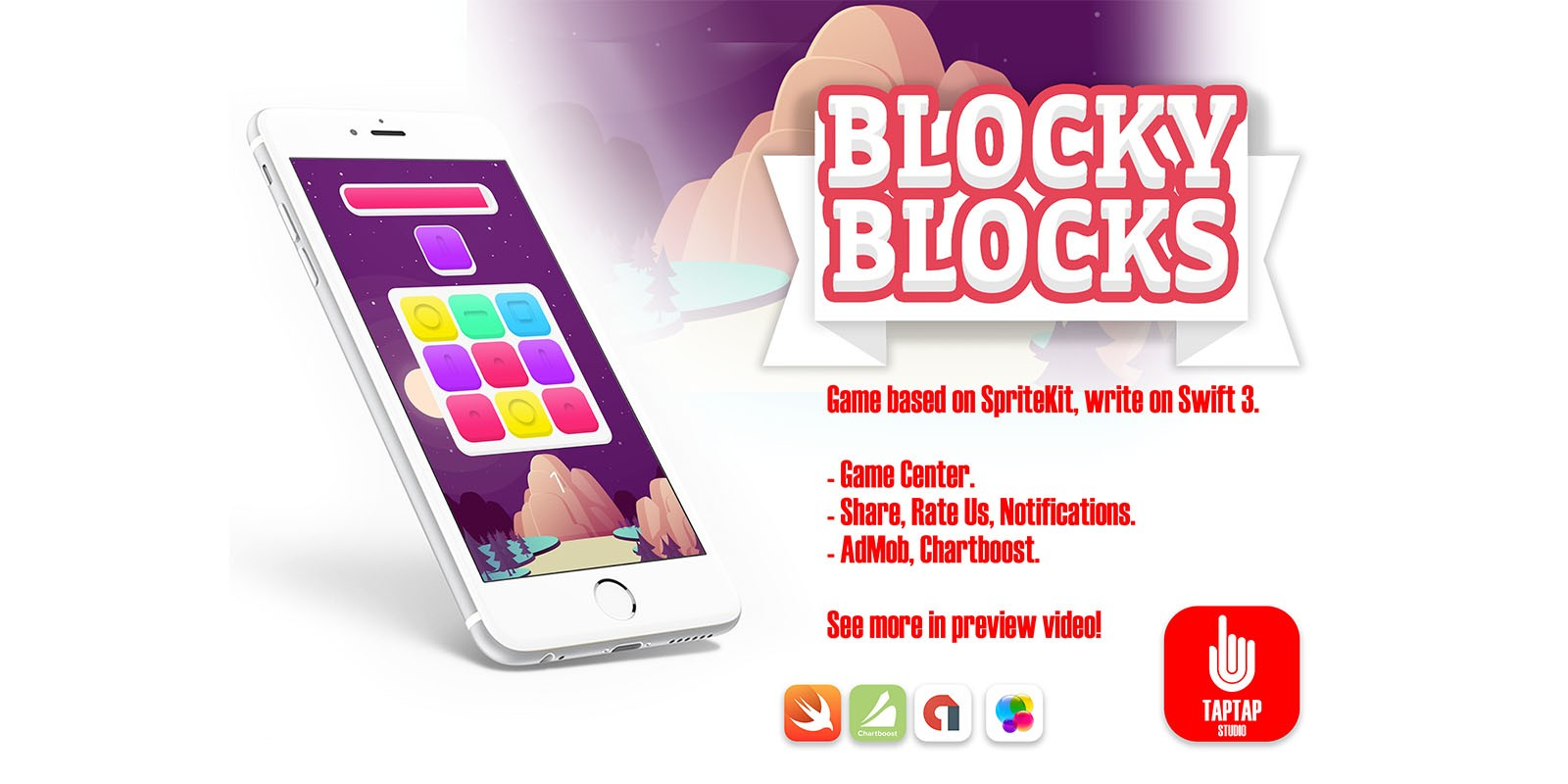 Blocky Blocks - iOS Xcode Source Code