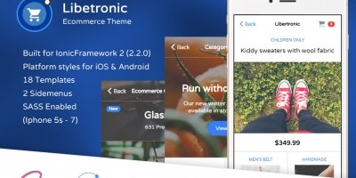 Libertronic - Ecommerce Ionic Theme