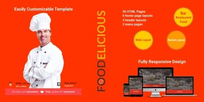 Foodelicious - Loung Bar Pub Restaurant Template