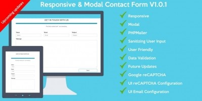 Responsive And Modal Contact Form