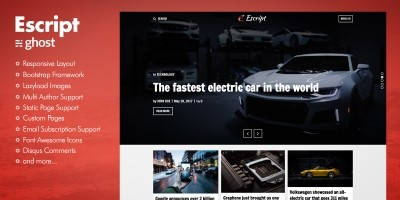 Escript - Masonry Ghost Blog Theme