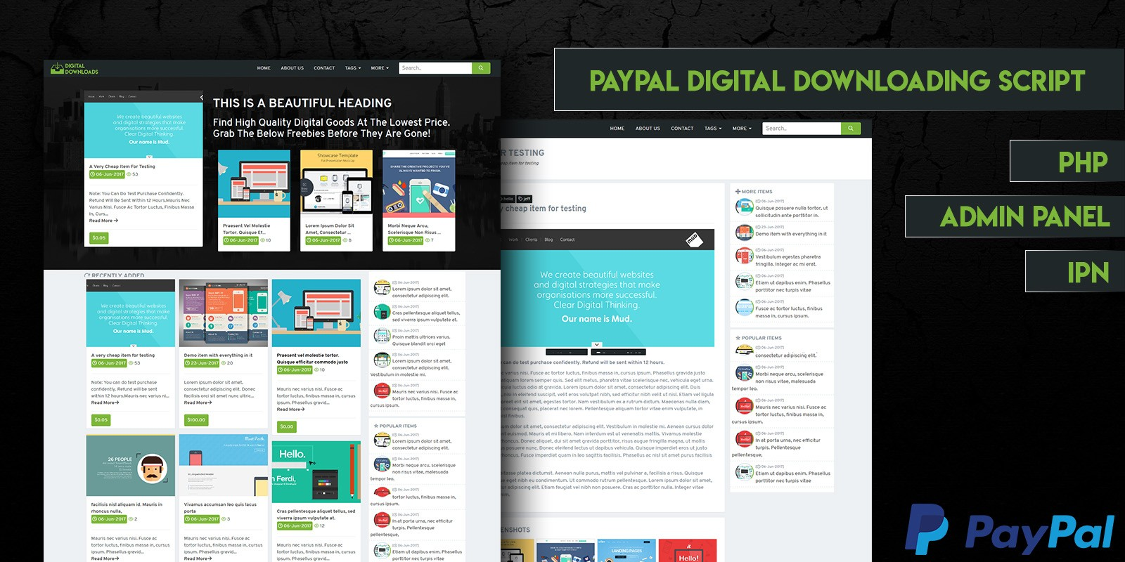PayPal Digital Downloads PHP Script