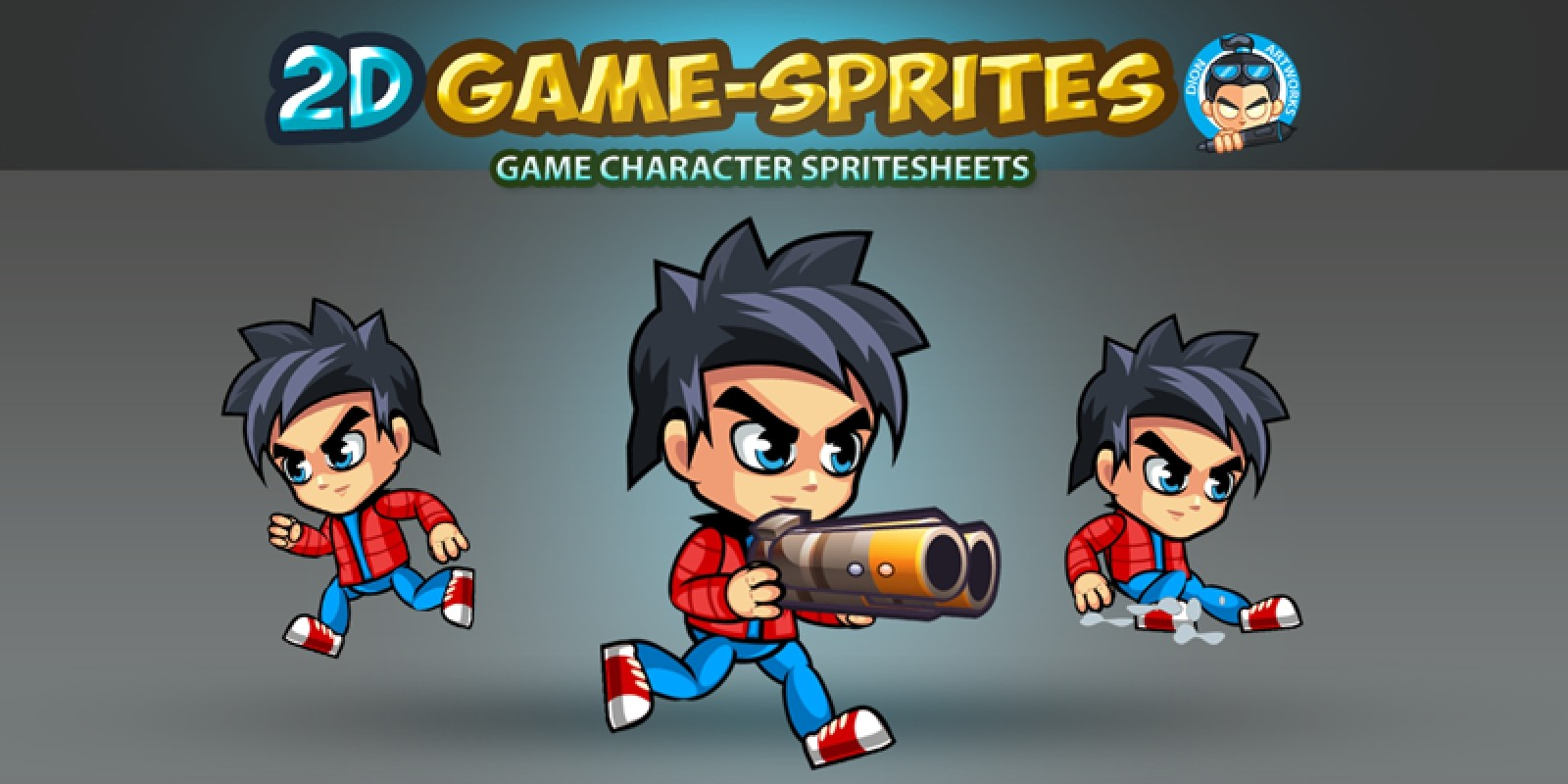 2d game character sprites 3 - game graphic assets | codester