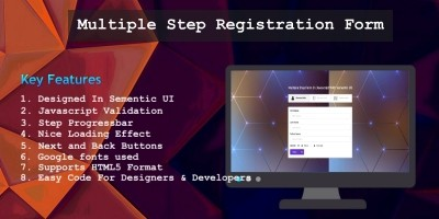 Multiple Step Registration Form