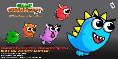 Enemy Monster Pack 2D Game Character Sprite