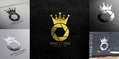 King Studio Logo Template