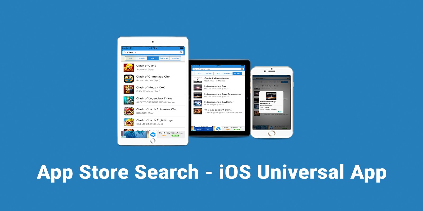 App Store Search - iOS App Source Code
