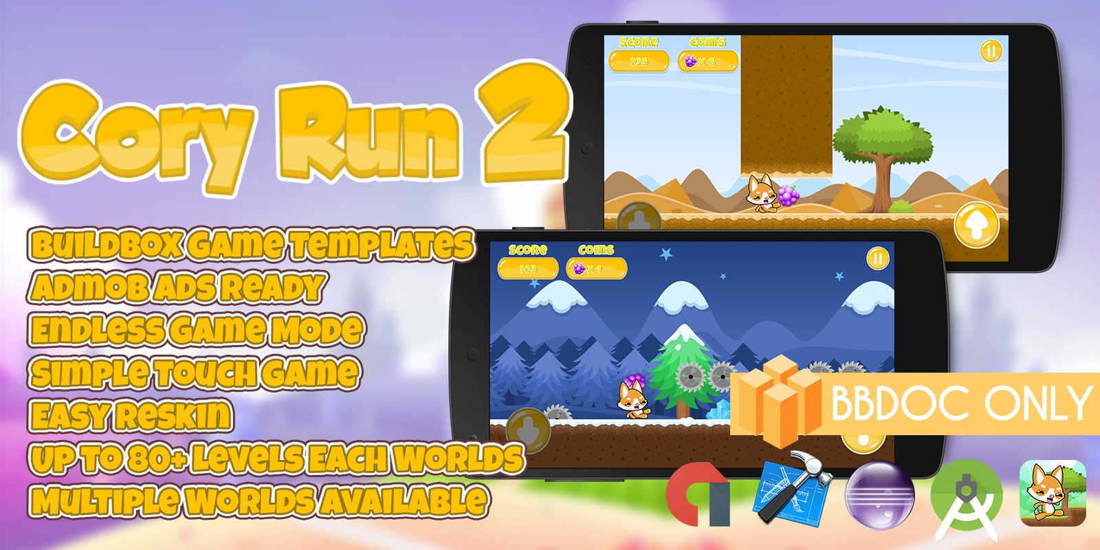 Cory Run 2 - Buildbox Game Template