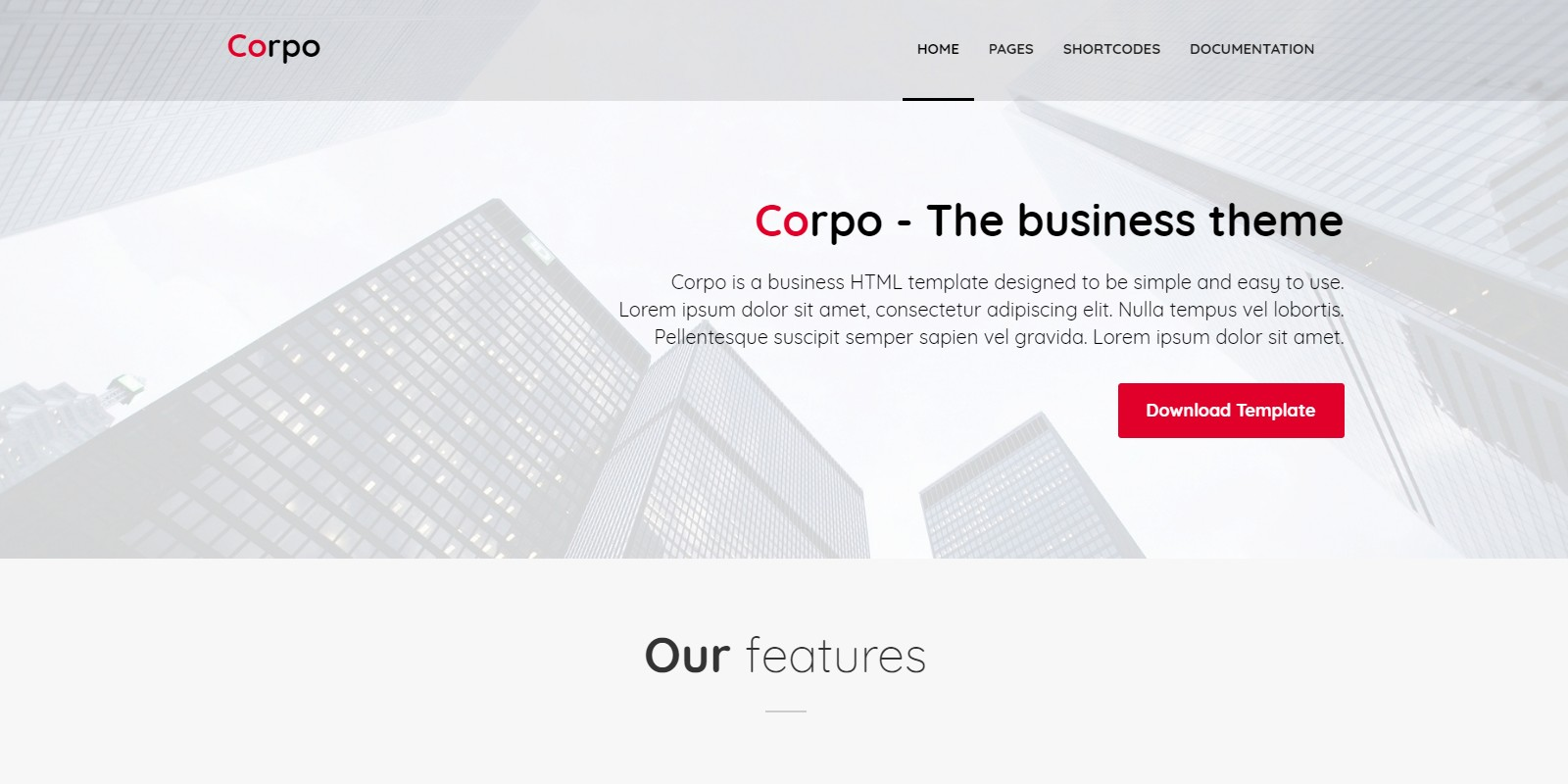 Corpo - Business HTML Template