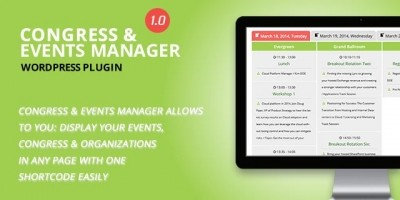 Congress and Event Manager - Wordpress Plugin