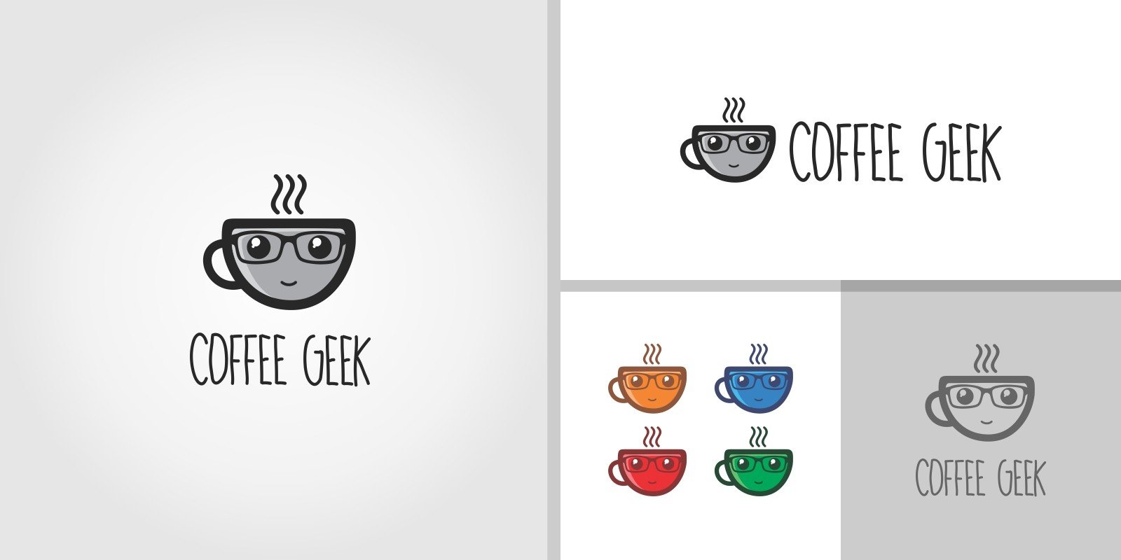 Coffee Geek - Cafe Logo Template