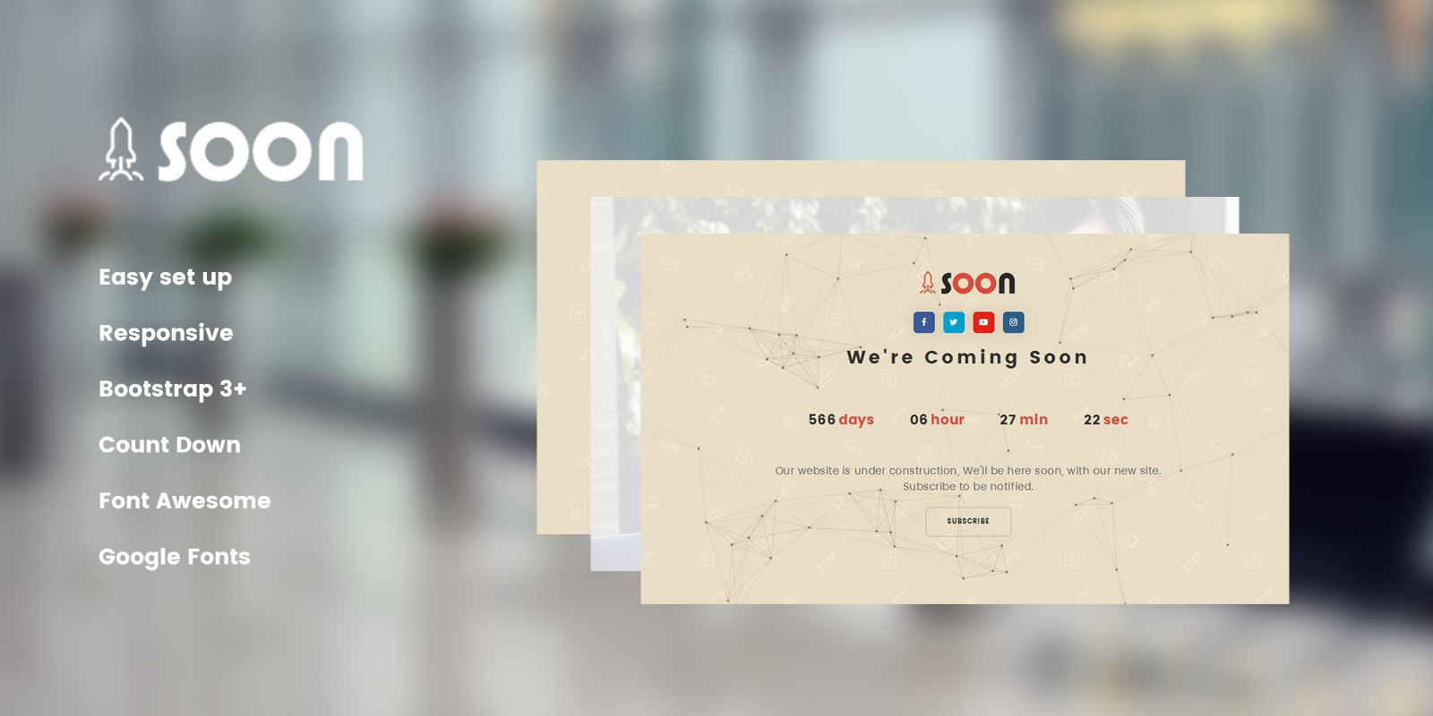 Soon - Coming Soon HTML Template
