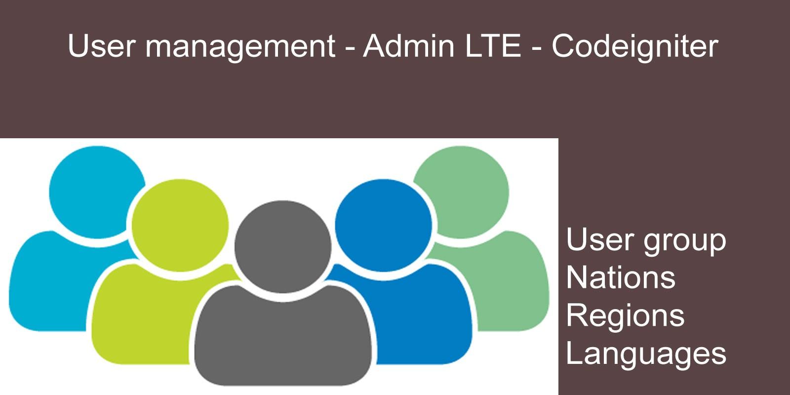 User management - Codeigniter Admin LTE
