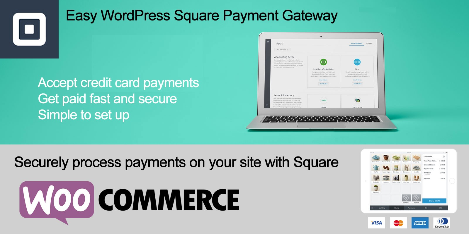 Easy WordPress Square Payment Gateway