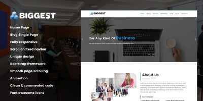 Biggest - HTML5 Website Template