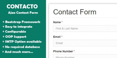 Advanced contact form with PHP Ajax And Bootstrap