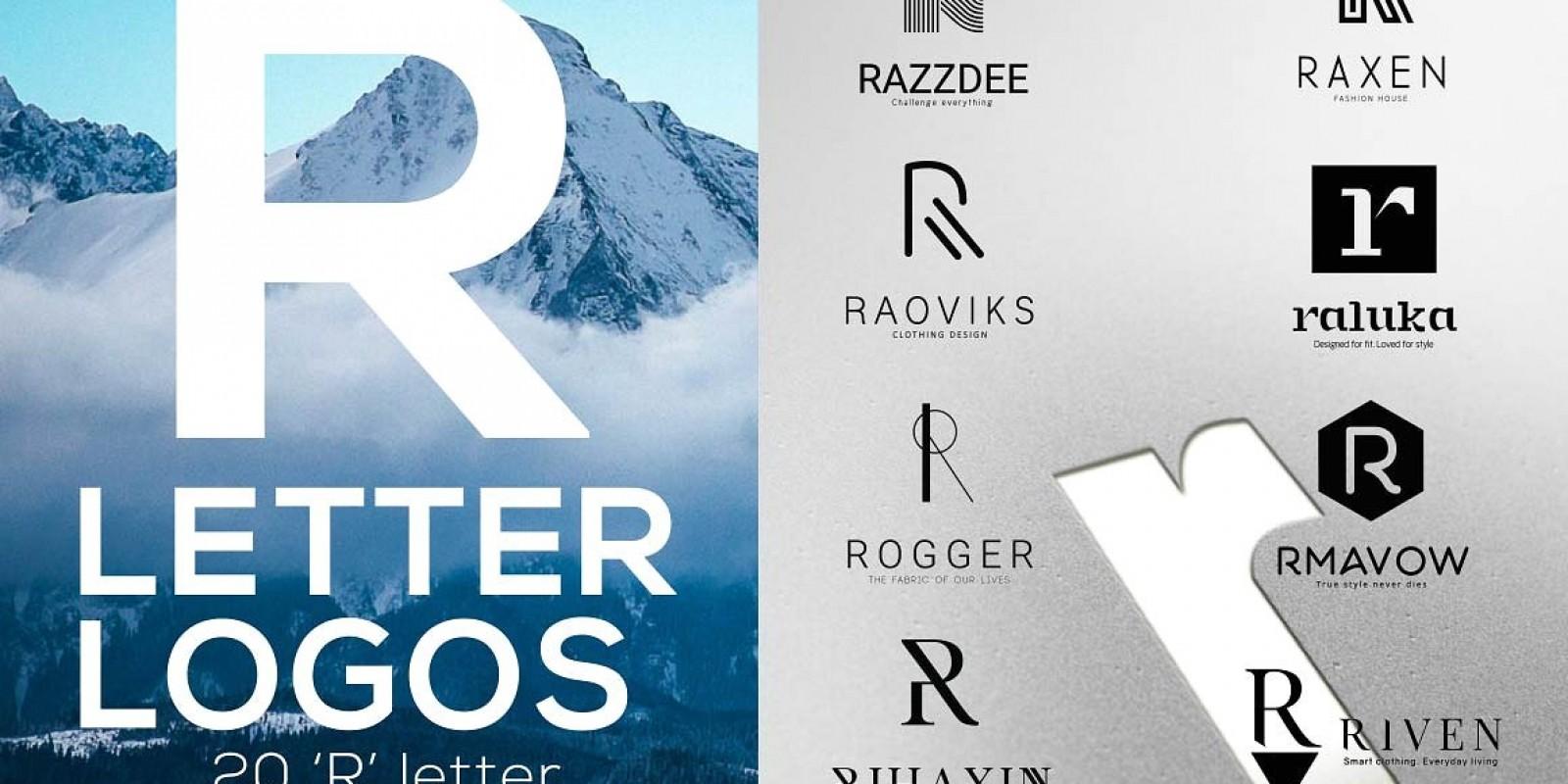 20  R Letter Alphabetic Logos