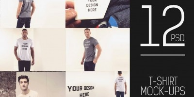 12 PSD T-Shirt Mock-ups