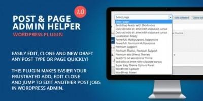 Post Page Admin Helper - Wordpress Plugin