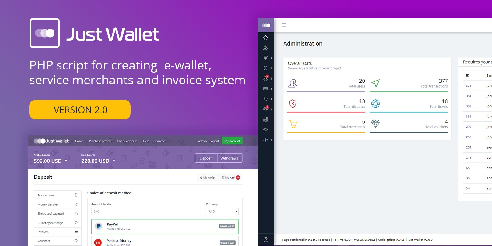 Just Wallet - Online Payment Gateway