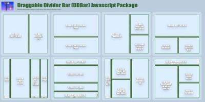 Draggable Divider Bar Javascript Package