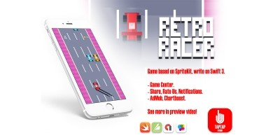 Retro Racer - iOS Xcode Source Code