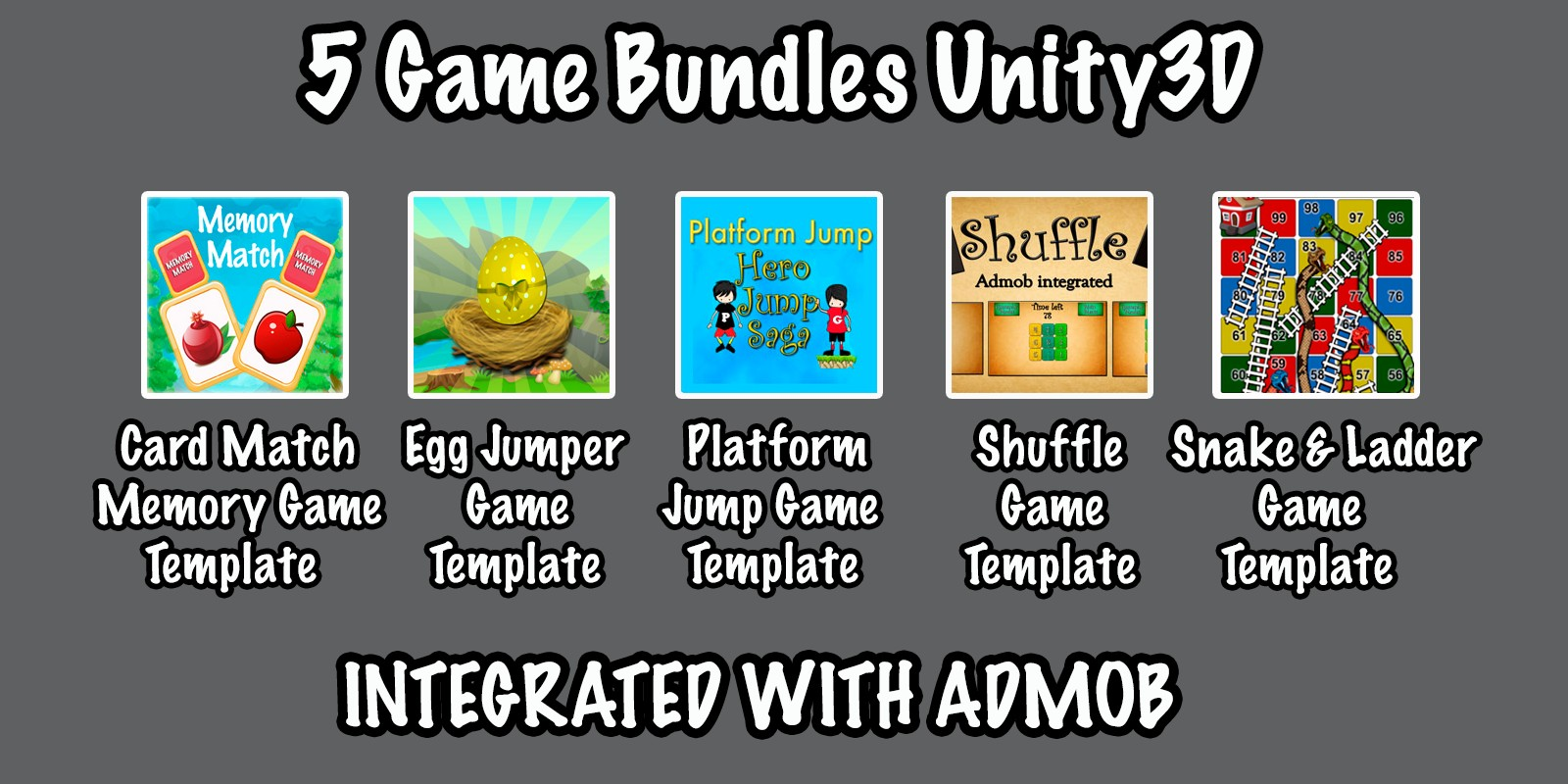 5 Games Bundle - Unity Source Code