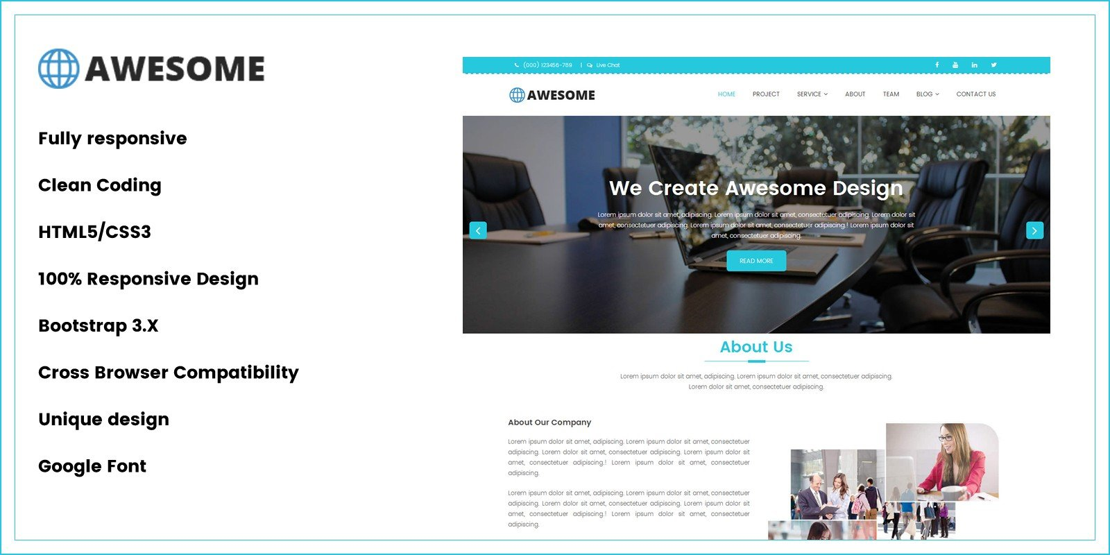 Awesome business html5 template business html website templates awesome business html5 template friedricerecipe Gallery