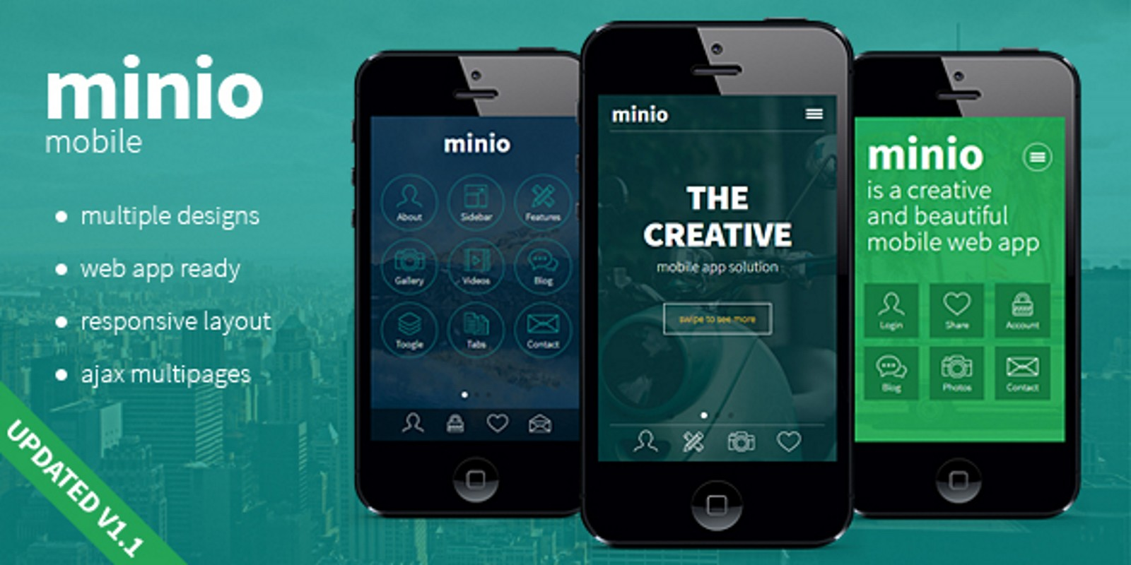 Minio - Mobile HTML Template - HTML Mobile Templates | Codester