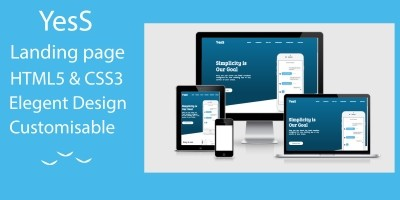 YesS - Responsive HTML5 Landing Page Template