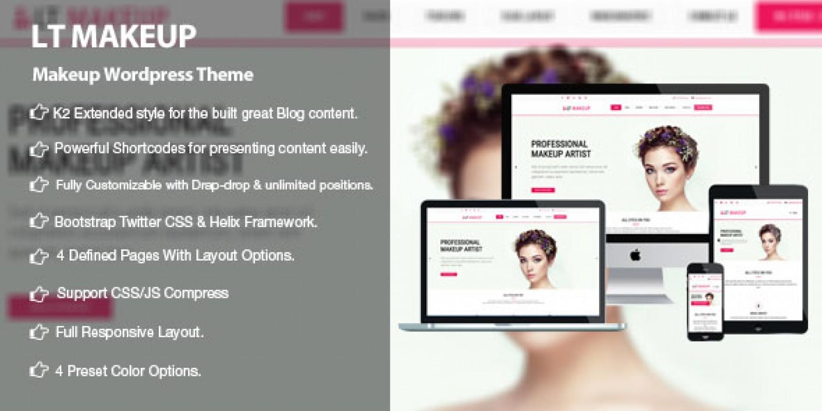 LT MakeUp - Beauty Salon WordPress Theme