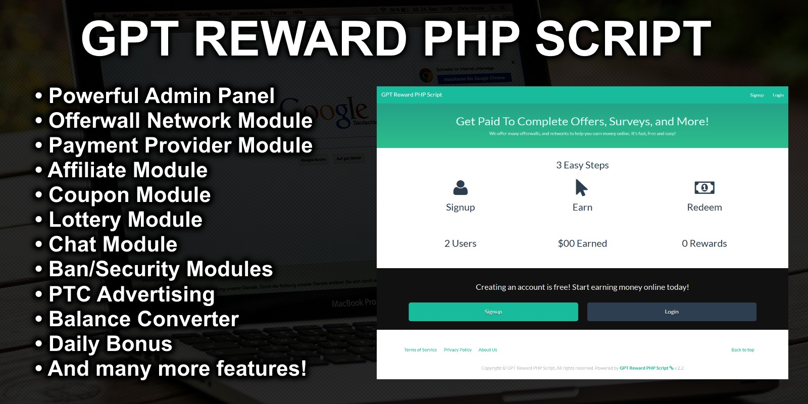 GPT Reward PHP Script
