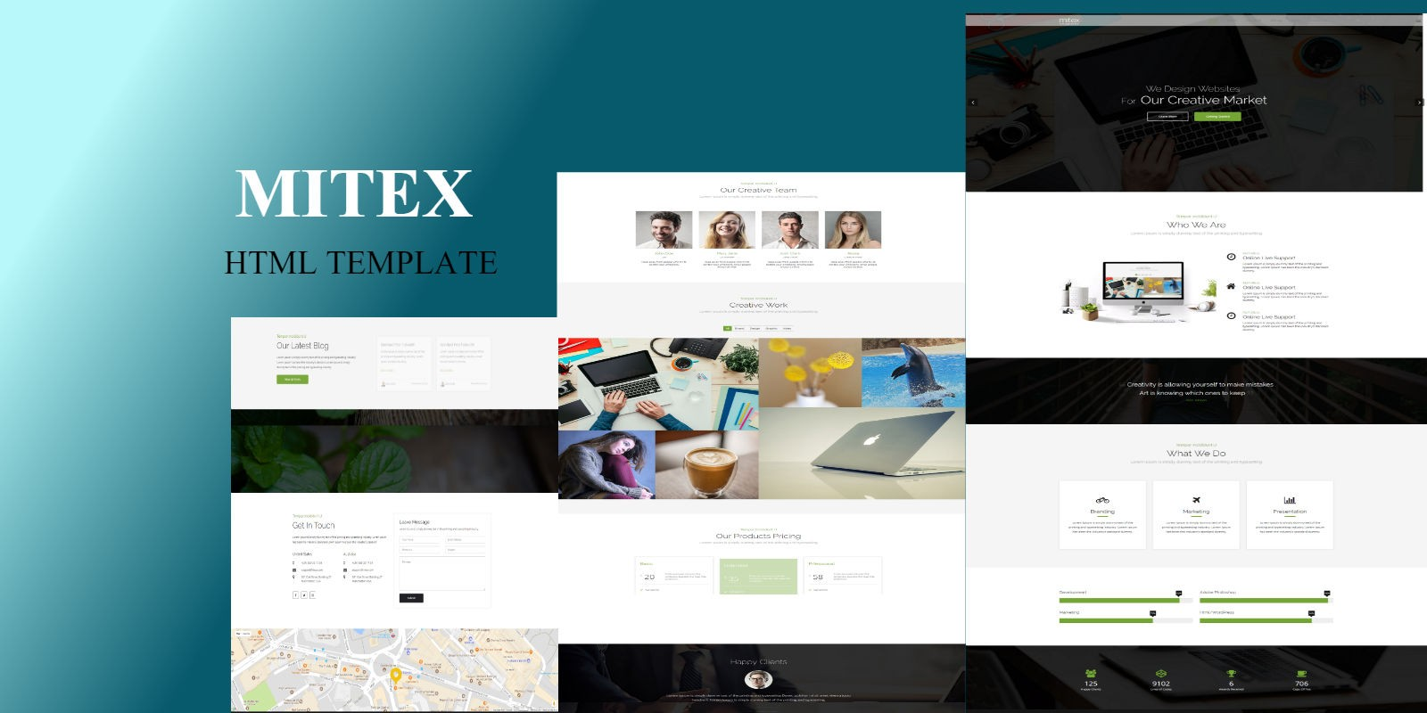 Mieter Template One Page Parallax Template Business Html Website