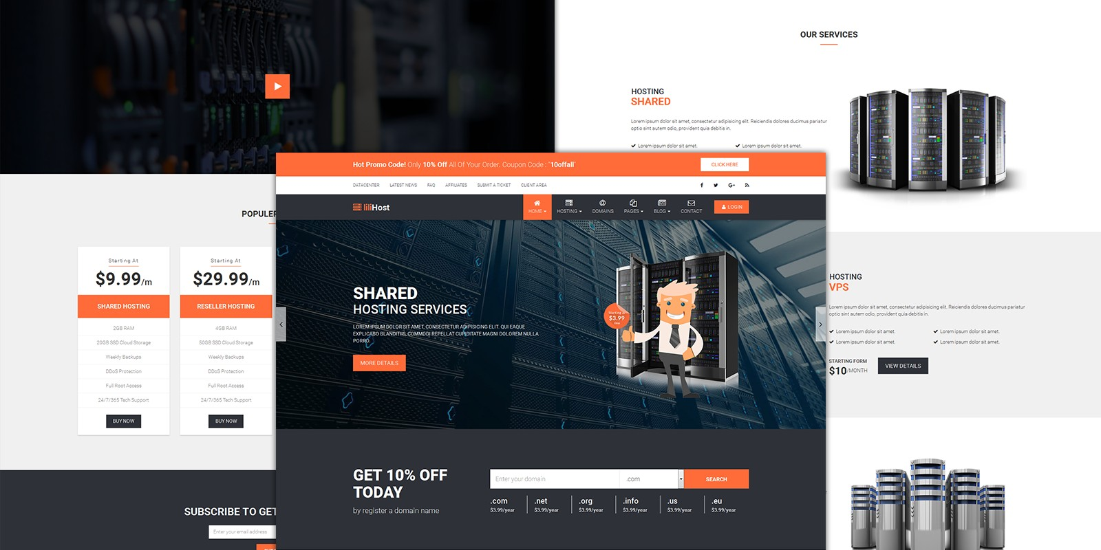 LilyHost - Responsive HTML5 Hosting WHMCS Template