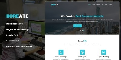 Create – Smart Design HTML Template