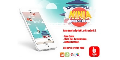 Ninja Breakout - iOS Game Source Code