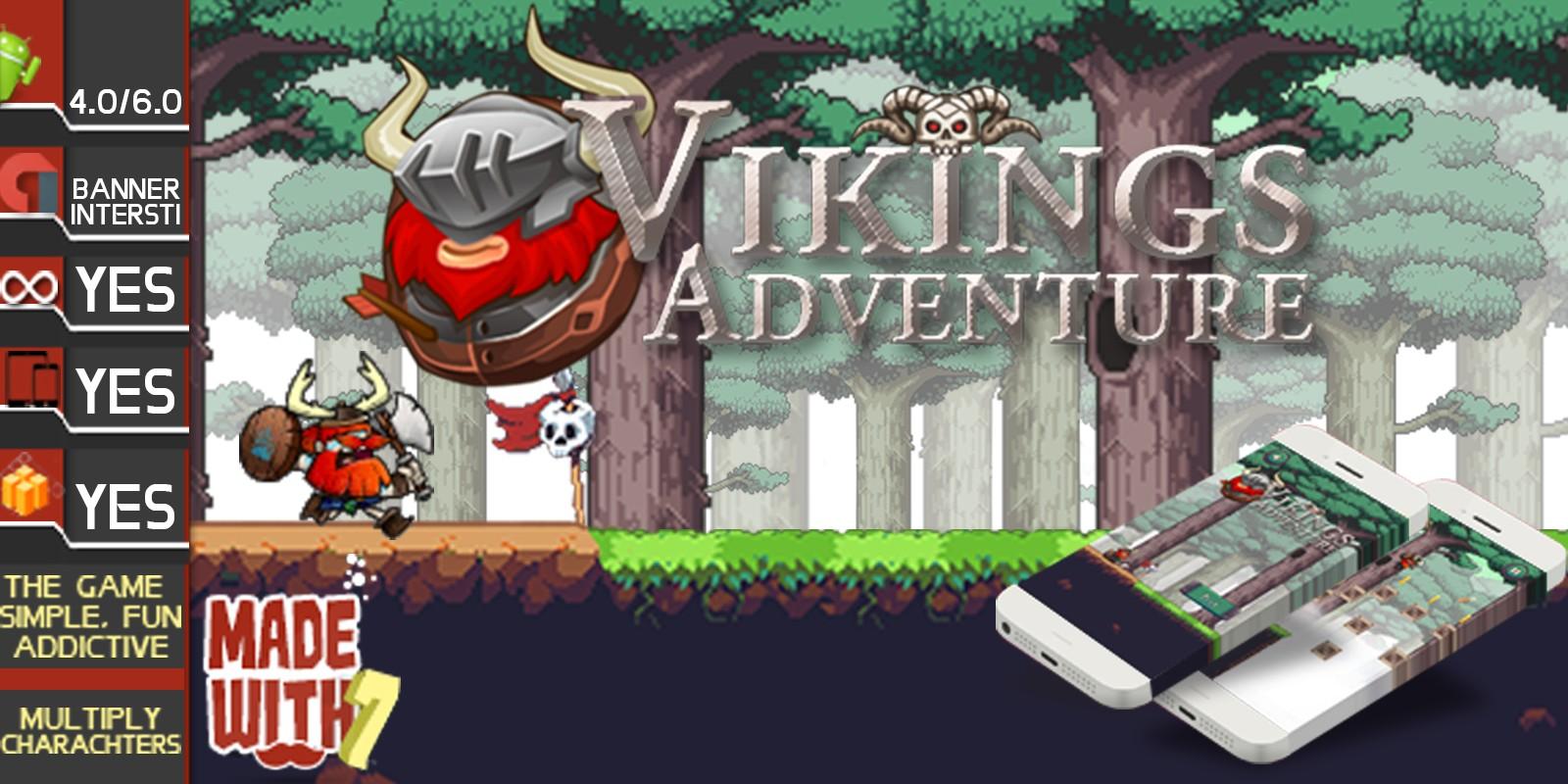Viking Adventure - Buildbox Game Template
