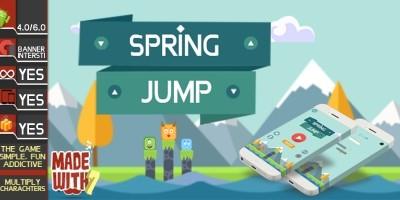 Spring Jump - Buildbox Game Template
