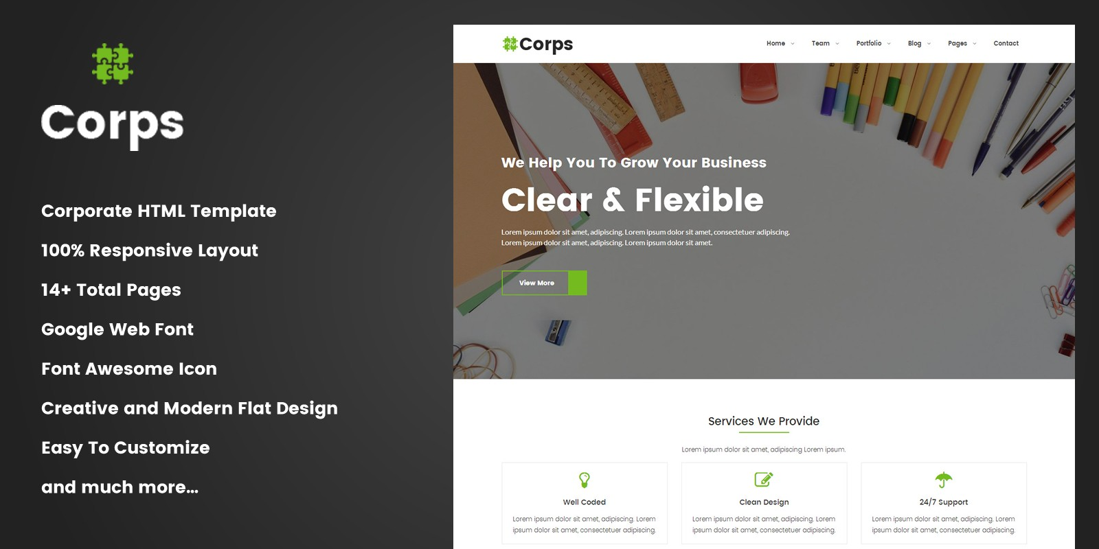 Corps - Corporate Business HTML Template - Business HTML Website ...