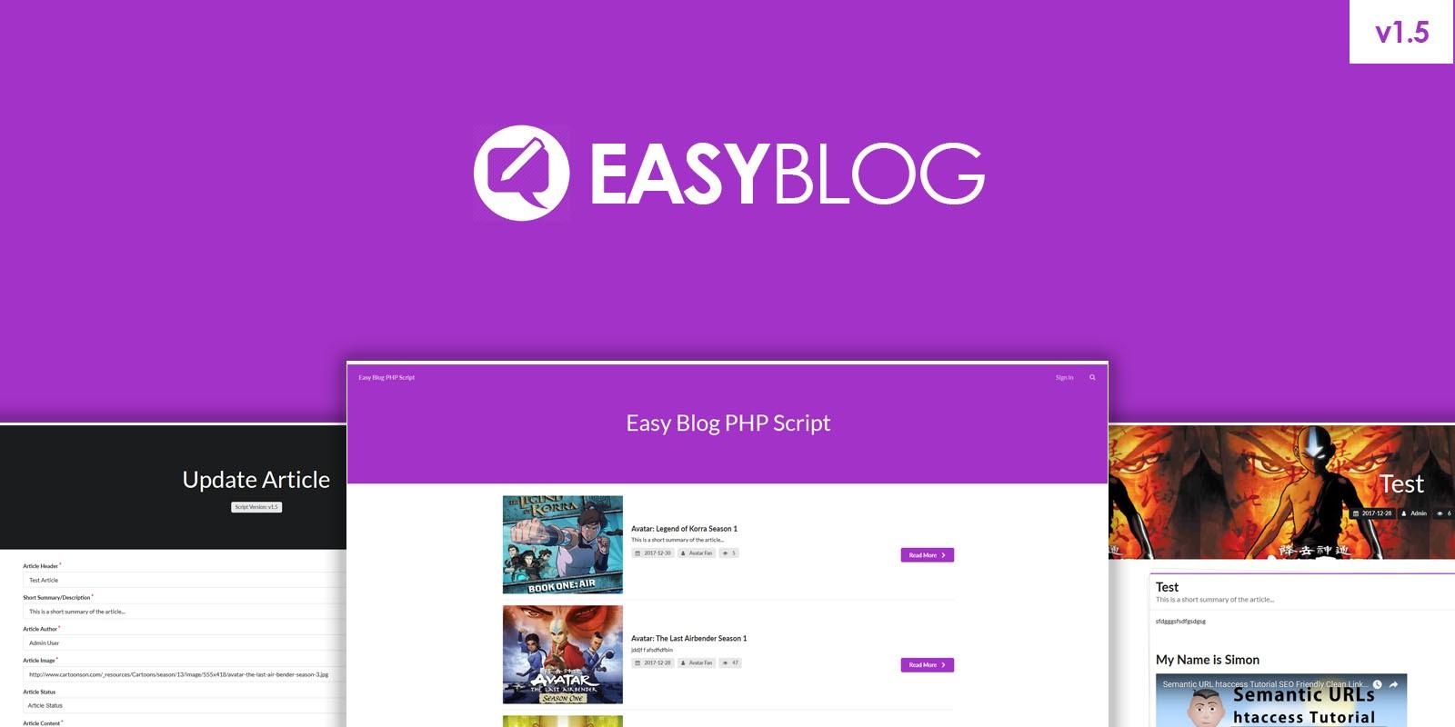 Easy blog php script php website builder scripts codester baditri Gallery