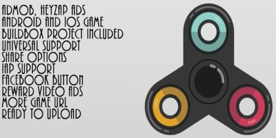 Amazing Fidget Spinner - Buildbox Game Template