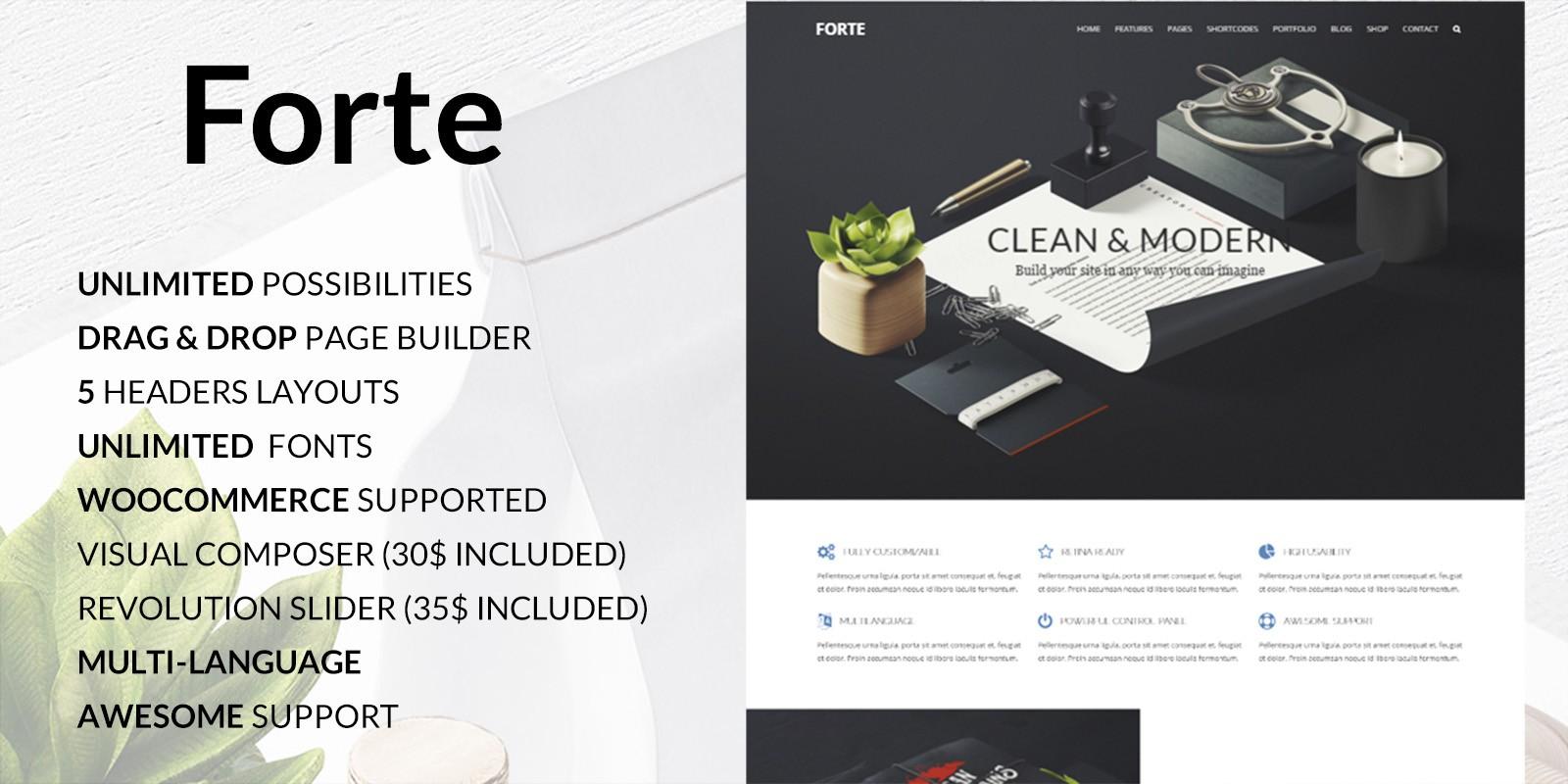 Forte - Multipurpose Wordpress Theme