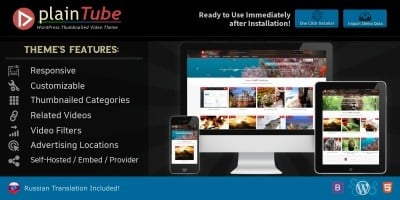 RAWMPlainTube -Video Tube WordPress Theme