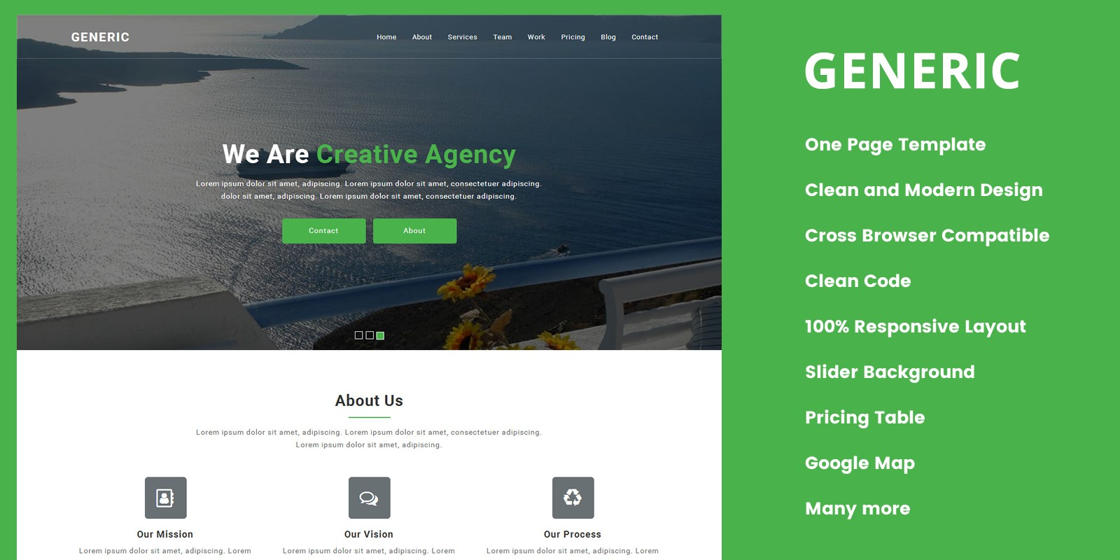 Generic responsive onepage business template codester generic responsive onepage business template wajeb Image collections