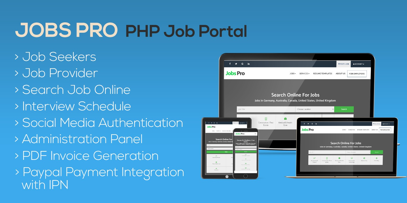 Jobs Pro Php Job Portal Php Scripts Php Code Codester