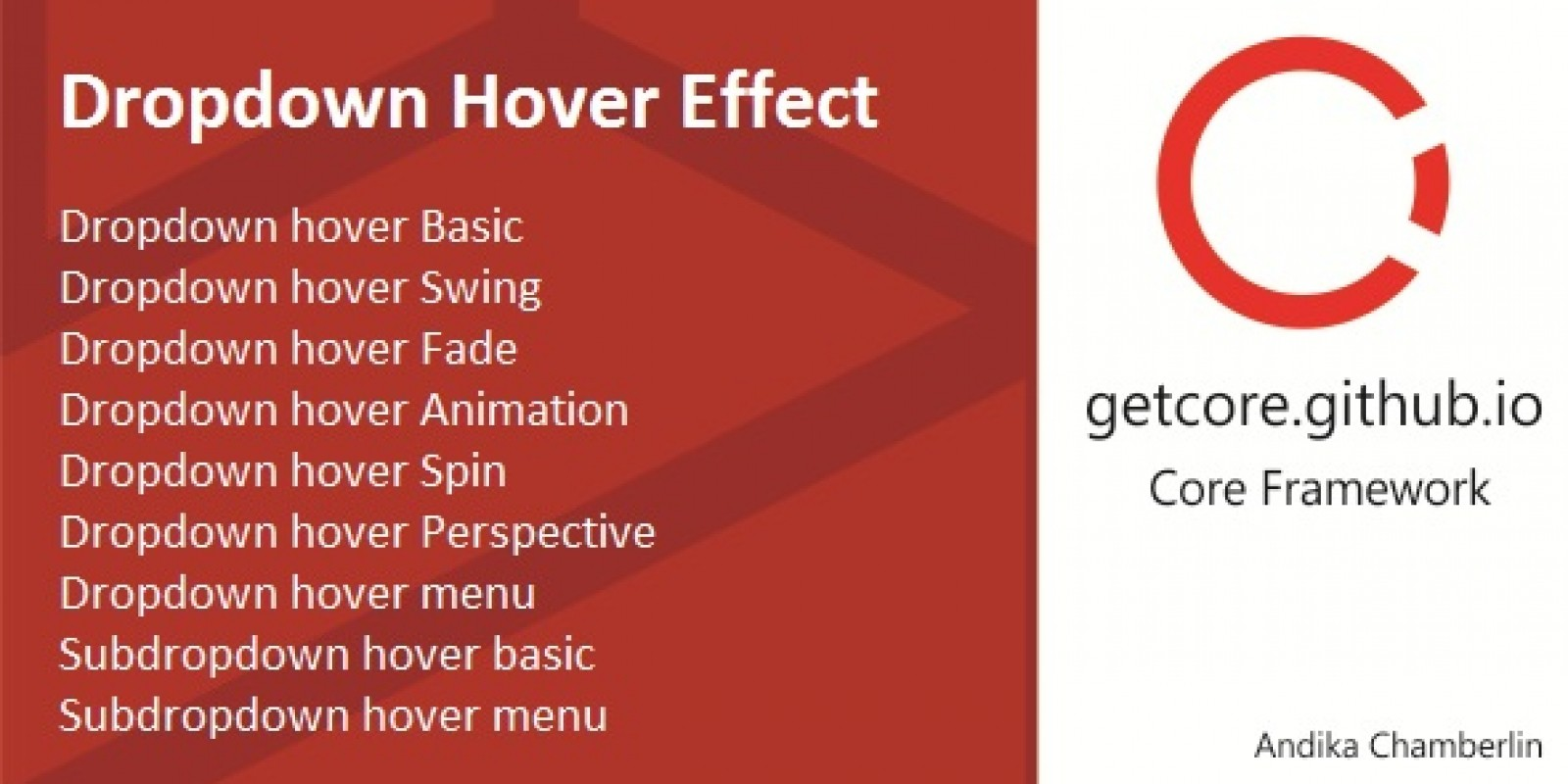 Dropdown Hover Effect