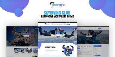 Dropzone - Skydiving Responsive WordPress Theme